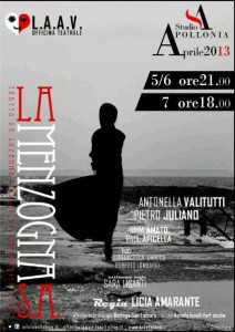 Ultimo spettacolo Out of Bounds: La Menzogna di Suzanne A. Dal 5 al 7 aprile 2013, Studio Apollonia a Salerno