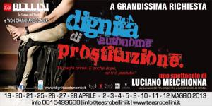 """Al Teatro Bellini di Napoli torna a grandissima richiesta """"Dignità Autonome di Prostituzione"""", spettacolo di Luciano Melchionna"""