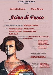 """La rivoluzione napoletana rivive al Theatre de Poche con """"Acino di fuoco"""" di Mario Pirera, dal 25 al 28 aprile 2013"""