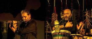 Ciccio Merolla e Riccardo Veno e la Brigantessa di Gea Martire al Parco Archeologico Ambientale del Pausilypon
