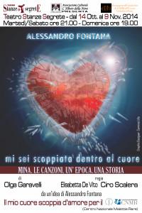 """Alessandro Fontana in """"Mi sei scoppiata dentro il cuore"""" al Teatro Stanze Segrete di Roma"""