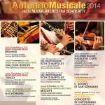 Al via l'8 novembre l'Autunno Musicale 2014 della Nuova Orchestra Scarlatti