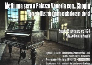 """""""Metti una sera a Palazzo Venezia con… Chopin"""", il 28 novembre 2015 al Palazzo Venezia di Napoli"""