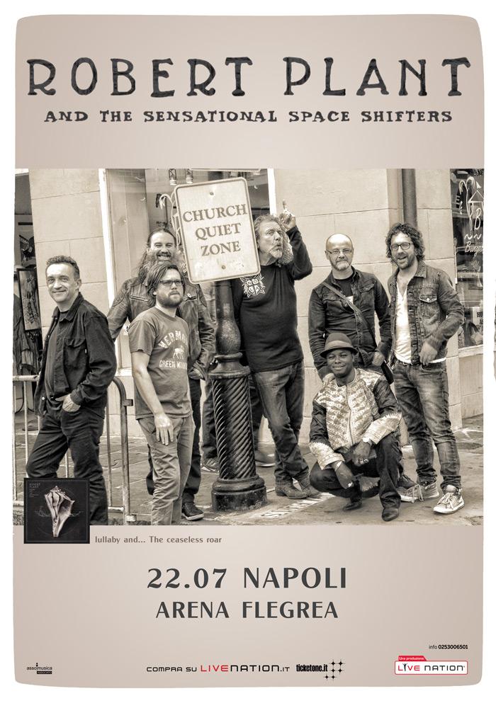 Robert Plant in concerto all'Arena Flegrea di Napoli, venerdì 22 luglio 2016