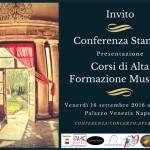 Invito Conferenza Stampa 16 settembre