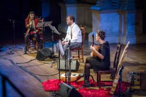 """Pippo Delbono e Petra Magoni ne """"Il sangue"""" di Pippo Delbono, dal 15 al 18 dicembre 2016 al Teatro Nuovo di Napoli"""