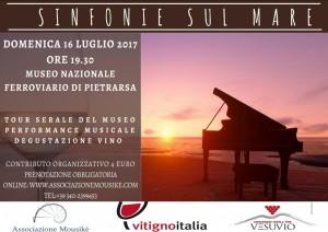 """""""Sinfonie sul Mare"""": una serata speciale da trascorrere ascoltando musica e degustando vino il 16 luglio 2017 al Museo Nazionale Ferroviario di Pietrarsa"""