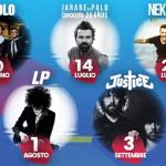 Pau Donés degli Jarabe de Palo il 14 luglio 2017 all'ETES Arena Flegrea di Napoli per il Noisy Naples Fest