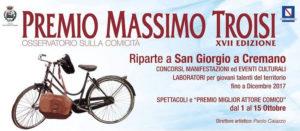 Prende il via la XVII edizione del Premio Massimo Troisi – Osservatorio sulla  comicità: spettacoli ed eventi nei primi 15 giorni di ottobre