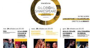 """""""Maratona Glob(e)al Shakespeare"""", 6 spettacoli da William Shakespeare il 24, 25 e 26 ottobre 2017 al Teatro Bellini di Napoli"""