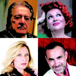 """Carlo Alighiero e Giorgia Trasselli in """"Bluff. Niente è come sembra"""", dal 26 ottobre al 19 novembre 2017 al Teatro Manzoni di Roma"""