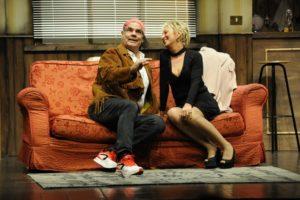 """Rita Forte e Pietro Longhi in """"Il gufo e la gattina"""", di Bill Manhoff, il 31 dicembre 2017 al Teatro Italia di Roma"""