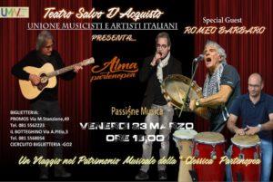 """Ultimo appuntamento della rassegna """"Passione Musica – i Venerdì Musicali"""", il 23 marzo 2018 al Teatro Salvo D'Acquisto di Napoli"""
