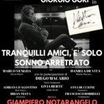 """""""Tranquilli amici è solo sonno arretrato"""", ispirato alla vita di Walter Chiari, dal 22 al 25 marzo 2018 al Nuovo Teatro Sancarluccio di Napoli"""
