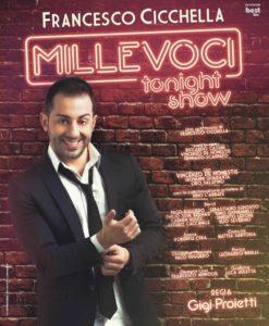 """Francesco Cicchella in """"Millevoci tonight"""", per la regia di Gigi Proietti, dal 4 al 22 aprile 2018 al Teatro Diana di Napoli"""