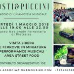 """""""Tosti & Puccini:  Viaggio di un'amicizia musicale"""", serata dedicata alla musica lirica, il 1° maggio 2018 al Museo di Pietrarsa"""