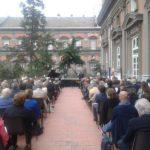 Gli archi dei ChamberCelli per il secondo concerto in terrazza del Teatro San Carlo, il 12 luglio 2018 alle ore 18:30