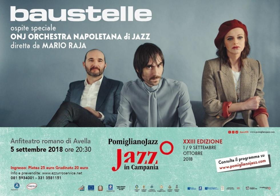 Pomigliano Jazz in Campania presenta Baustelle in concerto, il 5 settembre 2018 all'Anfiteatro romano di Avella