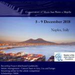 """Dal 5 al 9 dicembre 2018 si terrà presso il Conservatorio di Napoli San Pietro a Majella la prima edizione dell'International Piano Competition """"The Neapolitan Masters"""""""