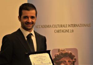 """Conferito il """"Premio Internazionale Cartagine 2.0 2018"""" al Maestro Luciano Ruotolo"""