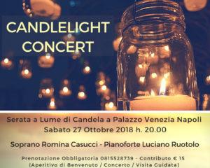 """""""Candlelight Concert"""", concerto a lume di candela, il 27 ottobre 2018 a Palazzo Venezia Napoli"""