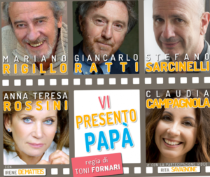 """Mariano Rigillo in """"Vi presento papà"""", dal 27 novembre al 16 dicembre 2018 al Teatro Golden di Roma"""