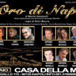 """""""L'Oro di Napoli"""", per la regia di Nello Mascia, dal 1° al 6 gennaio 2019 alla Casa della Musica Federico I di Napoli"""