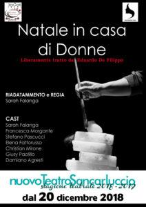 """""""Natale in casa di donne"""", liberamente tratto da Eduardo De Filippo, dal 20 al 23 dicembre 2018 al Nuovo Teatro Sancarluccio di Napoli"""