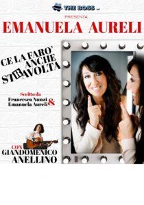 """Emanuela Aureli in """"Ce la farò anche stRavolta"""" il 19 ed il 20 gennaio 2019 al Teatro Roma"""