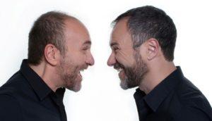 """Gianfranco Gallo e Massimiliano Gallo in """"Comicissimi fratelli. Il pubblico ha sempre ragione"""", dall'11 al 20 gennaio 2019 al Teatro Augusteo di Napoli"""