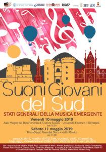 Stati Generali della Musica Emergente – Suoni Giovani del Sud, a Napoli il 10 e l'11 maggio 2019