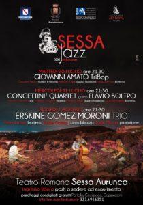 """XXI Edizione di """"Sessa Jazz 2019"""", dal 30 luglio al 1° agosto 2019 presso il Teatro Romano di Sessa Aurunca"""