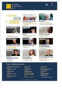 Presentata la stagione teatrale 2019/2020 del Teatro Augusteo di Napoli