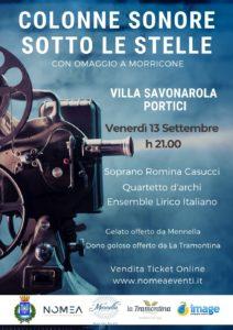 Colonne sonore sotto le stelle a Villa Savonarola (Portici), il 13 settembre 2019
