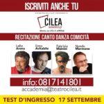 """Al via """"Cilea Academy"""", fucina di nuovi talenti e luogo di aggregazione, dal 17 settembre 2019"""
