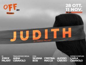 """Judith"", di Jorge Palant, dal 28 ottobre all'11 novembre 2019 al Teatro Eliseo di Roma"