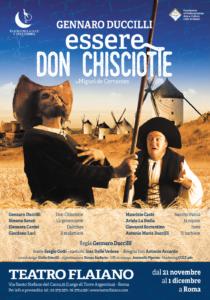 """Torna in scena Gennaro Duccilli in """"Essere Don Chisciotte"""", dal 21 novembre al 1° dicembre 2019 al Teatro Flaiano di Roma"""