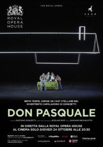 Il Don Pasquale di Donizetti al cinema, in diretta via satellite dal Covent Garden di Londra, il 24 Ottobre 2019
