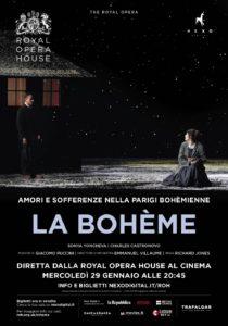 """""""La bohème"""" della Royal Opera House in diretta via satellite al cinema, il 29 gennaio 2020"""