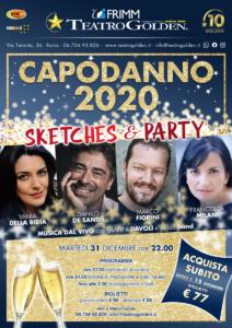 """Capodanno 2020 al Teatro Golden di Roma con """"Sketches & Party"""" e la musica dal vivo di Gianni Davoli e la sua band"""