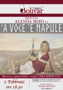 """""""A voce 'e Napule"""", prodotto, diretto e condotto da Alessia Moio, il 2 febbraio 2020 al Teatro Bolivar di Napoli"""