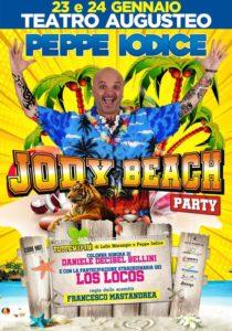 """Peppe Iodice in """"Jody Beach Party"""", il 23 ed il 24 gennaio 2020 al Teatro Augusteo di Napoli"""