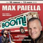 """""""Il Boom!"""", con Max Paiella, dal 25 febbraio al 15 marzo 2020 al Teatro Golden di Roma"""