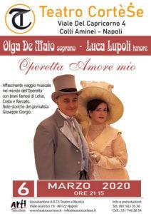 """""""Operetta Amore mio"""", prossimo recital con la coppia della lirica De Maio Lupoli, il 6 marzo 2020 al Teatro Cortese di Napoli"""
