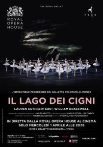"""""""Il Lago dei Cigni"""" del Royal Ballet al cinema in diretta via satellite dalla Royal Opera House di Londra, il 1° aprile 2020"""