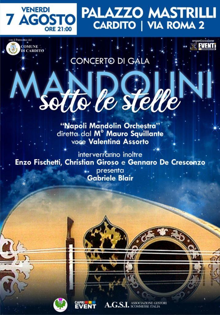 """""""Mandolini sotto le Stelle"""", il  7 agosto 2020 a Cardito"""