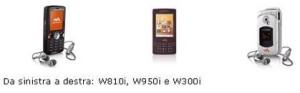 Da Sony Ericsson tre nuovi cellulari Walkman